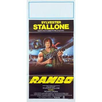 RAMBO Affiche de film - 33x71 cm. - 1982 - Sylvester Stallone, Ted Kotcheff