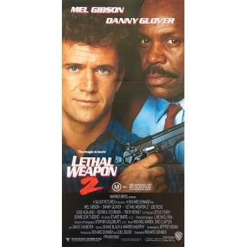 L'ARME FATALE 2 Affiche de film - 33x78 cm. - 1989 - Mel Gibson, Richard Donner