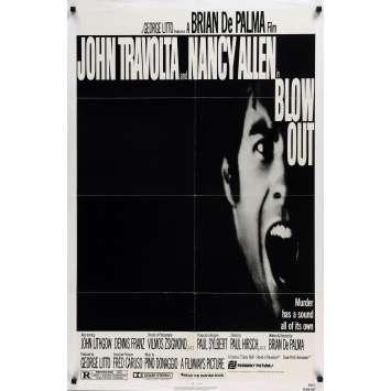 BLOW OUT Affiche de film - 69x102 cm. - 1981 - John Travolta, Brian de Palma