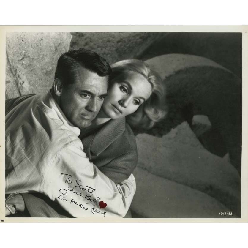 NORTH BY NORTWESTSigned Photo by EVA MARIE SAINT - 8x10 in. - R1980 - Alfred Hitchcock