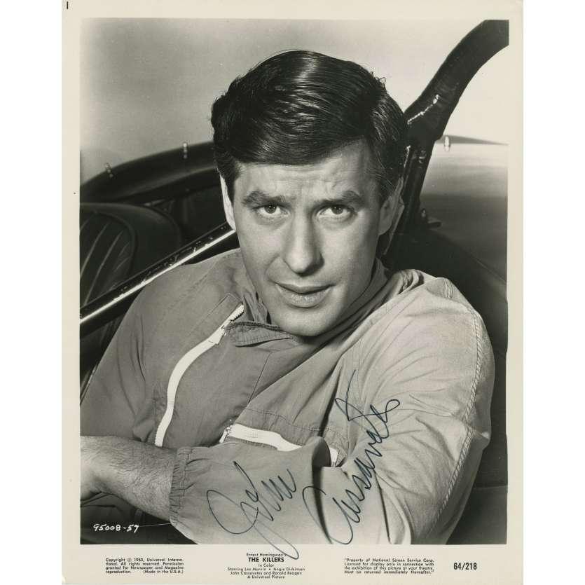 A BOUT PORTANT Photo signée par JOHN CASSAVETES ! 20x25 cm. - 1964