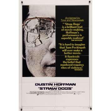 LES CHIENS DE PAILLE Affiche de film - 69x102 cm. - 1971 - Dustin Hoffman, Sam Peckinpah