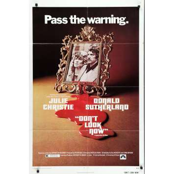 DON'T LOOK NOW Original Movie Poster - 27x40 in. - 1973 - Nicholas Roeg, Donald Sutherland