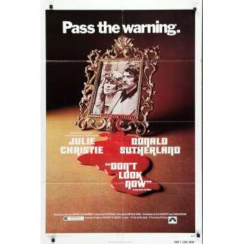 NE VOUS RETOURNEZ PAS Affiche de film - 69x102 cm. - 1973 - Donald Sutherland, Nicholas Roeg