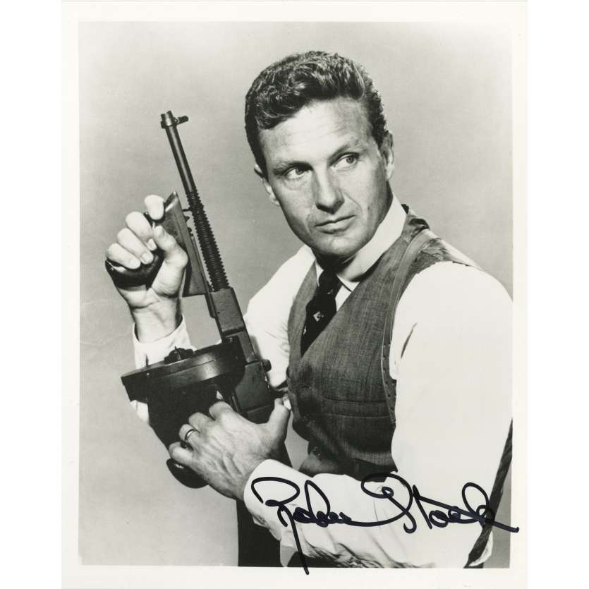 ROBERT STACK Signed Photo from the Untouchables - 1980 - Elliot Ness Autograph