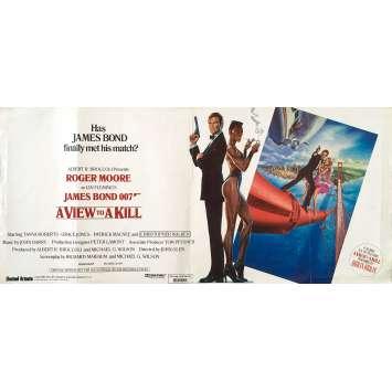 DANGEREUSEMENT VOTRE Affiche de film - 33x78 cm. - 1985 - Roger Moore, James Bond