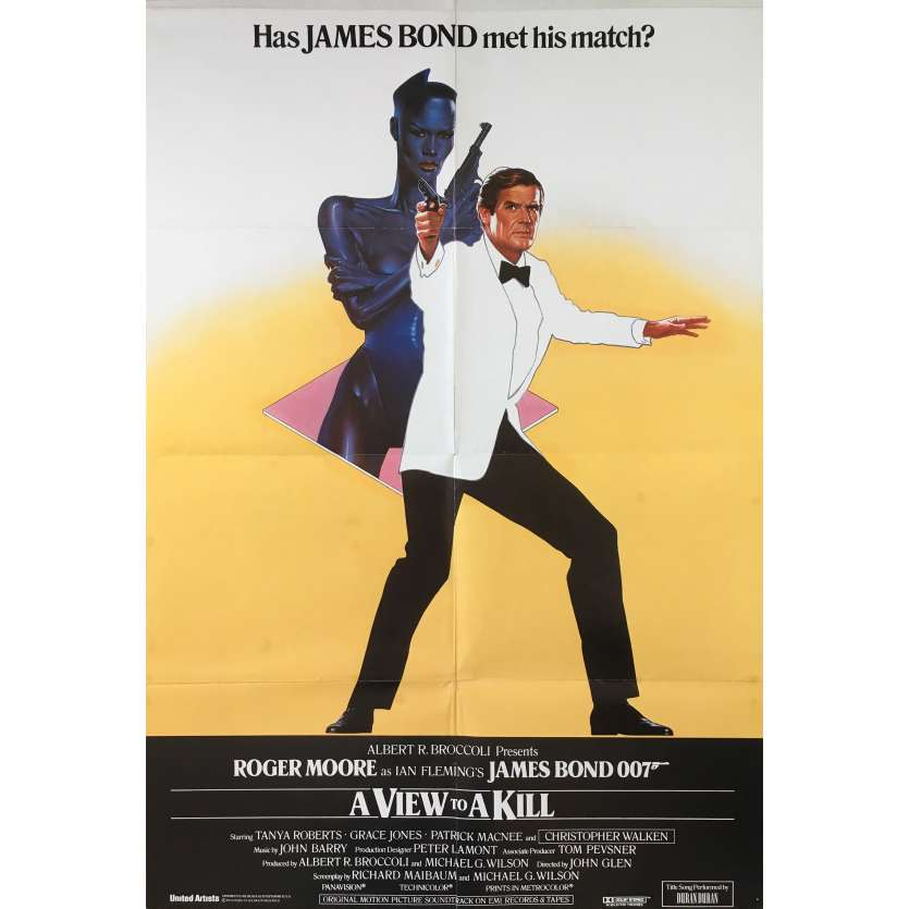 A VIEW TO A KILL Rare Original British RECALLED Movie Poster - 27x40 in. - 1985 - James Bond, Roger Moore