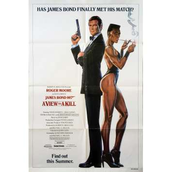 DANGEREUSEMENT VOTRE Affiche de film - 69x104 cm. - 1985 - Roger Moore, James Bond