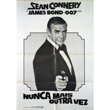 JAMAIS PLUS JAMAIS Affiche de film - 69x102 cm. - 1983 - Sean Connery, James Bond
