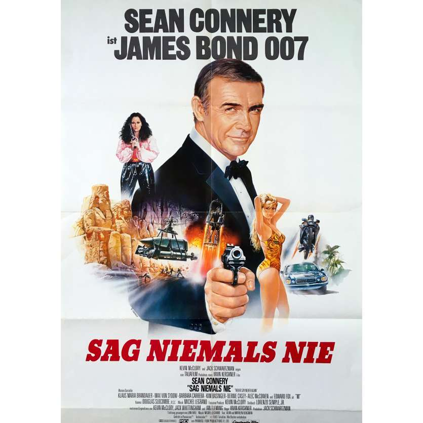 NEVER SAY NEVER AGAIN Original Movie Poster - 23x33 in. - 1983 - James Bond, Sean Connery