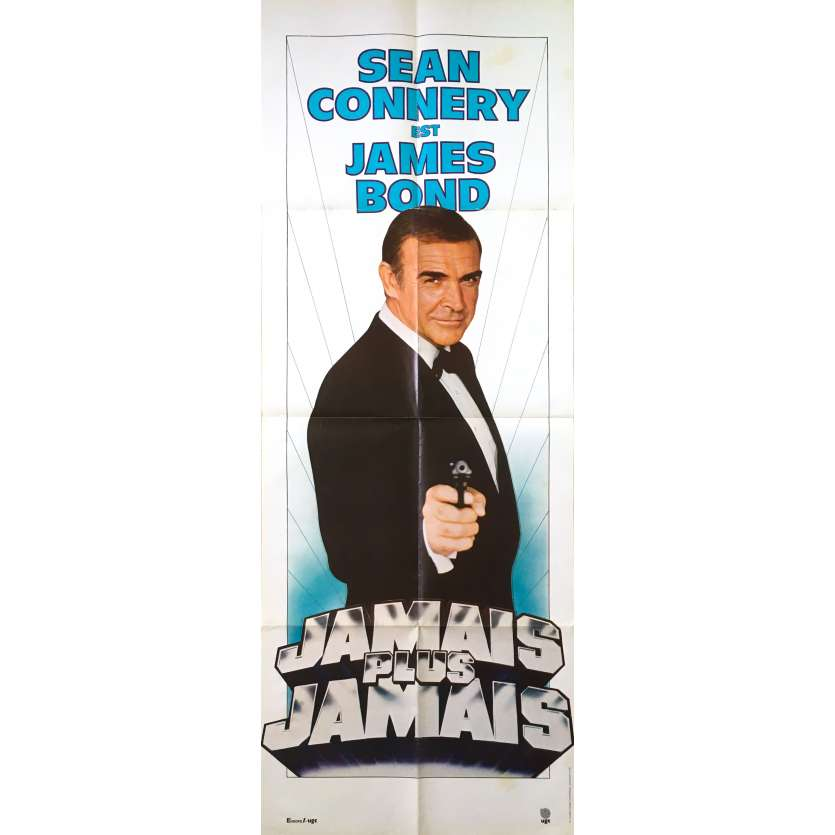 NEVER SAY NEVER AGAIN Original Movie Poster - 23x63 in. - 1983 - James Bond, Sean Connery