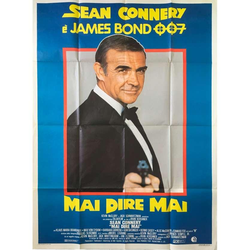 JAMAIS PLUS JAMAIS Affiche de film - 100x140 cm. - 1983 - Sean Connery, James Bond