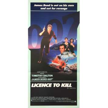 PERMIS DE TUER Affiche de film - 33x78 cm. - 1989 - Timothy Dalton, James Bond