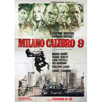CALIBER 9 Original Movie Poster - 55x70 in. - 1972 - Fernando di Leo, Barbara Bouchet