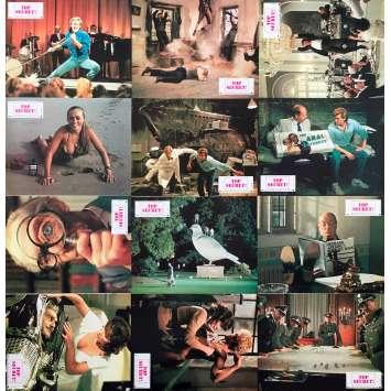 TOP SECRET Original Lobby Cards x12 - 9x12 in. - 1984 - David Zucker, Val Kilmer