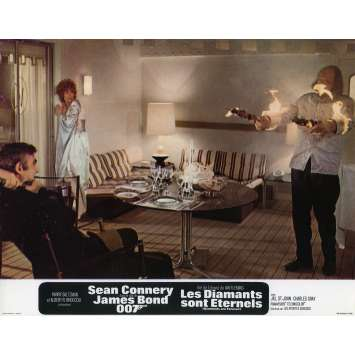 DIAMONDS ARE FOREVER Original Lobby Card N03 - 9x12 in. - 1971 - James Bond, Sean Connery