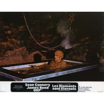 DIAMONDS ARE FOREVER Original Lobby Card N01 - 9x12 in. - 1971 - James Bond, Sean Connery