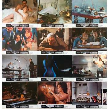 DIAMONDS ARE FOREVER Original Lobby Cards x12 - Set B - 9x12 in. - 1971 - James Bond, Sean Connery