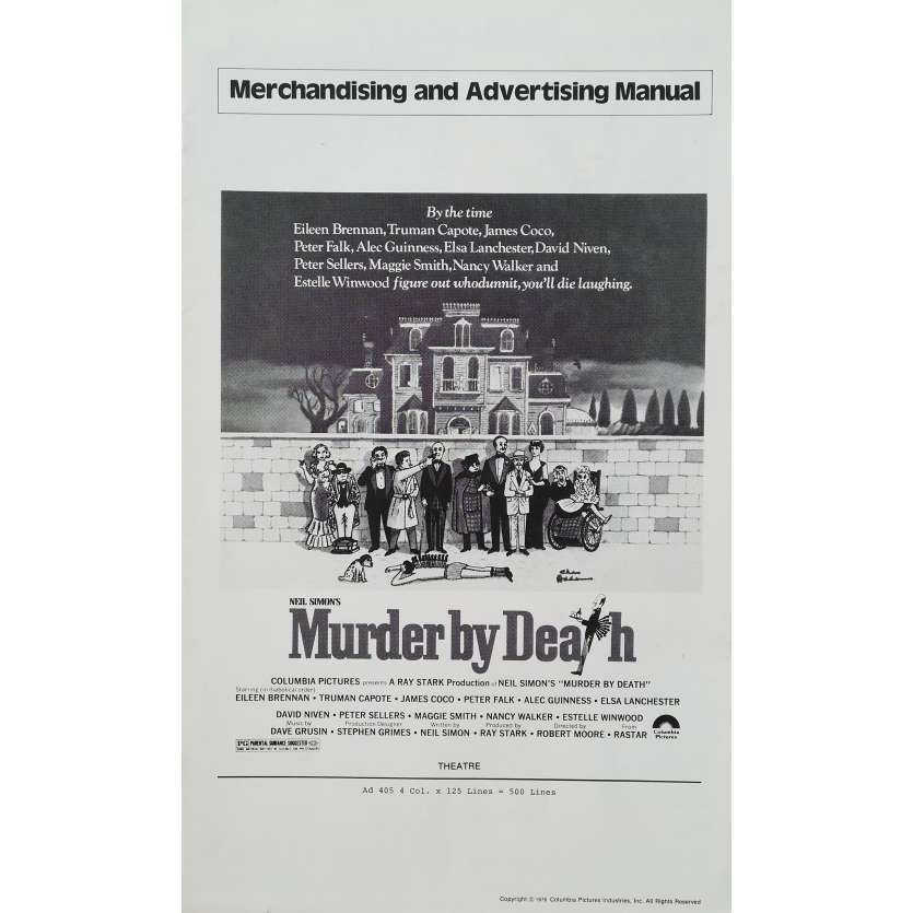MURDER BY DEATH Original Pressbook - 9x12 in. - 1976 - Robert Moore, Peter Sellers, Alec Guiness