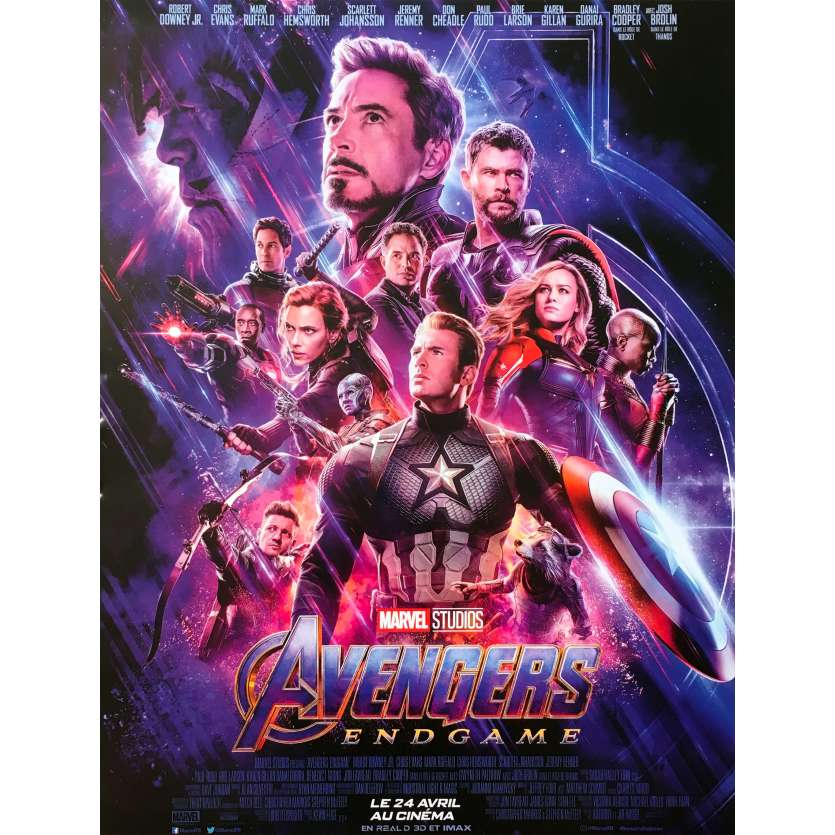 AVENGERS ENDGAME Original Movie Poster - 15x21 in. - 2019 - Anthony Russo, Robert Downey Jr