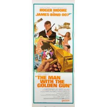 L'HOMME AU PISTOLET D'OR Rare Affiche de film US - 1974 - James bond, Roger Moore