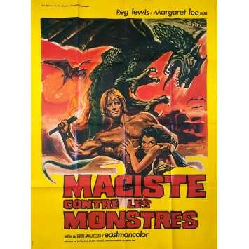 MACISTE CONTRE LES MONSTRES Affiche de film - 120x160 cm. - 1962 - Reg Lewis, Guido Malatesta