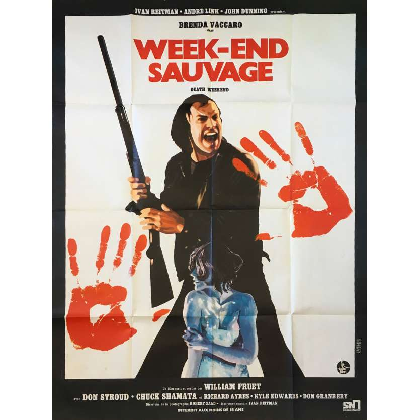 WEEK-END SAUVAGE Affiche de film 120x160 - 1976 - Brenda Vaccaro