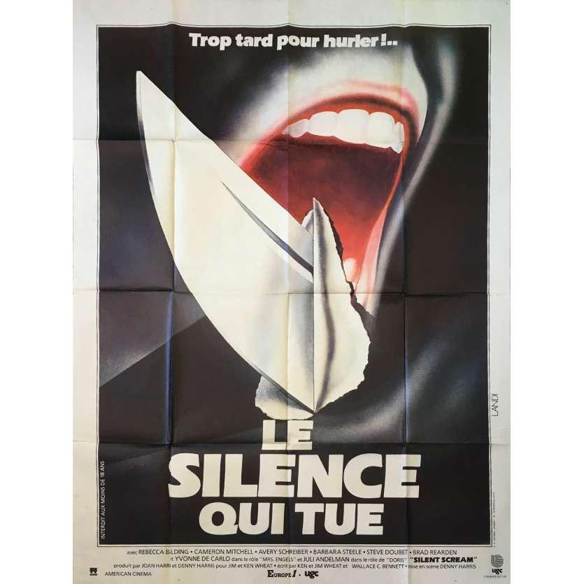 SILENT SCREAM French Movie Poster 47x63 - 1979 - Denny Harris, Cameron Mitchell