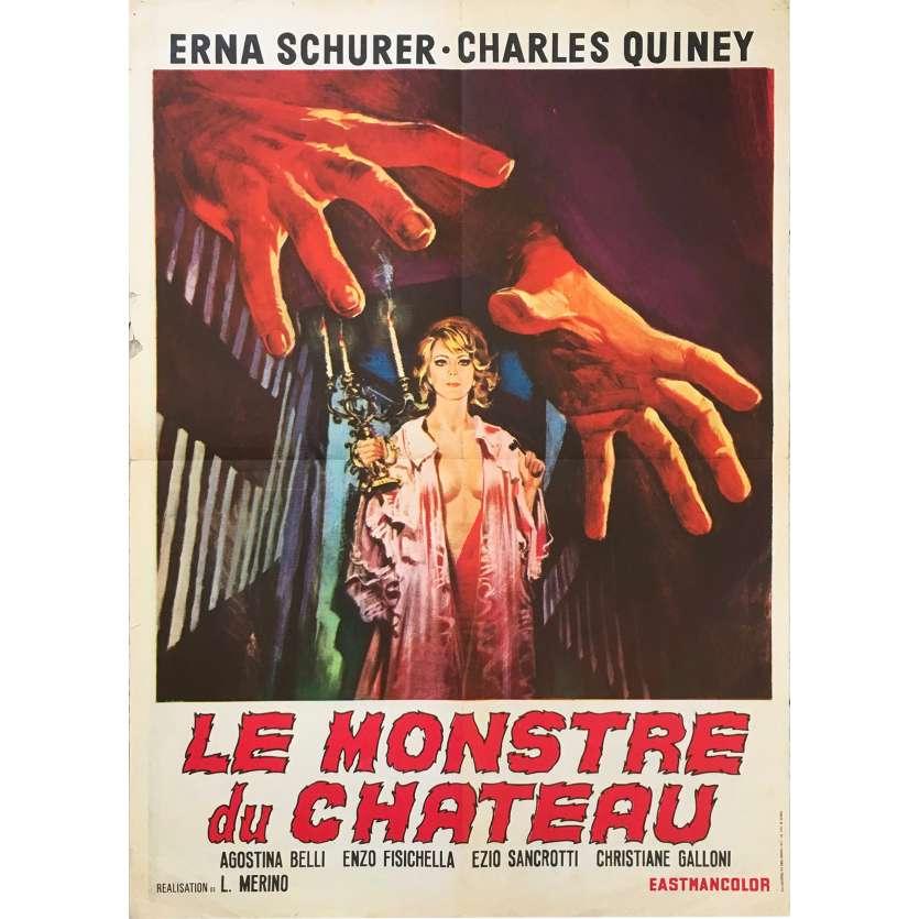 LE MONSTRE DU CHATEAU Affiche de film 70x50 - 1970 - Erna Schurer, José Luis Merino
