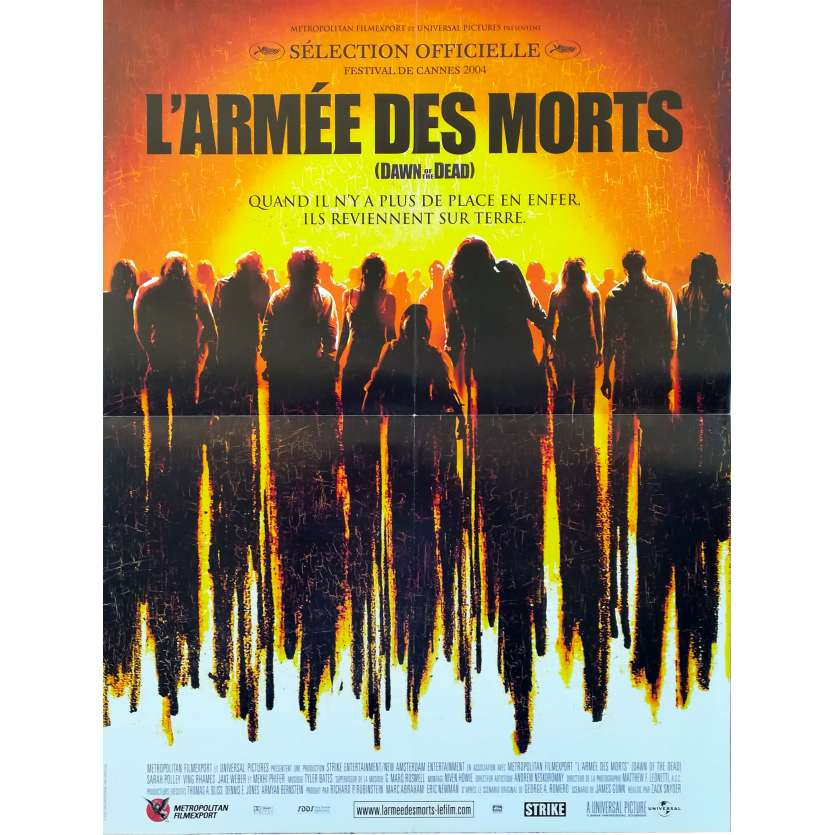 DAWN OF THE DEAD French Movie Poster 15x21 - 2004 - Zack Snyder, Sarah Polley
