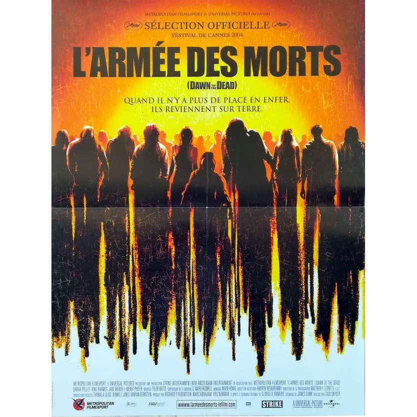 L'ARMEE DES MORTS Affiche de film 40x60 - 2004 - Sarah Polley, Zack Snyder