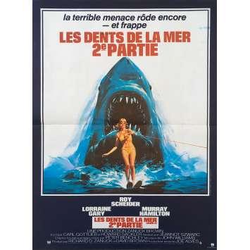 LES DENTS DE LA MER 2 Affiche de film 40x60 - 1978 - Roy Sheider, Jeannot Szwarc