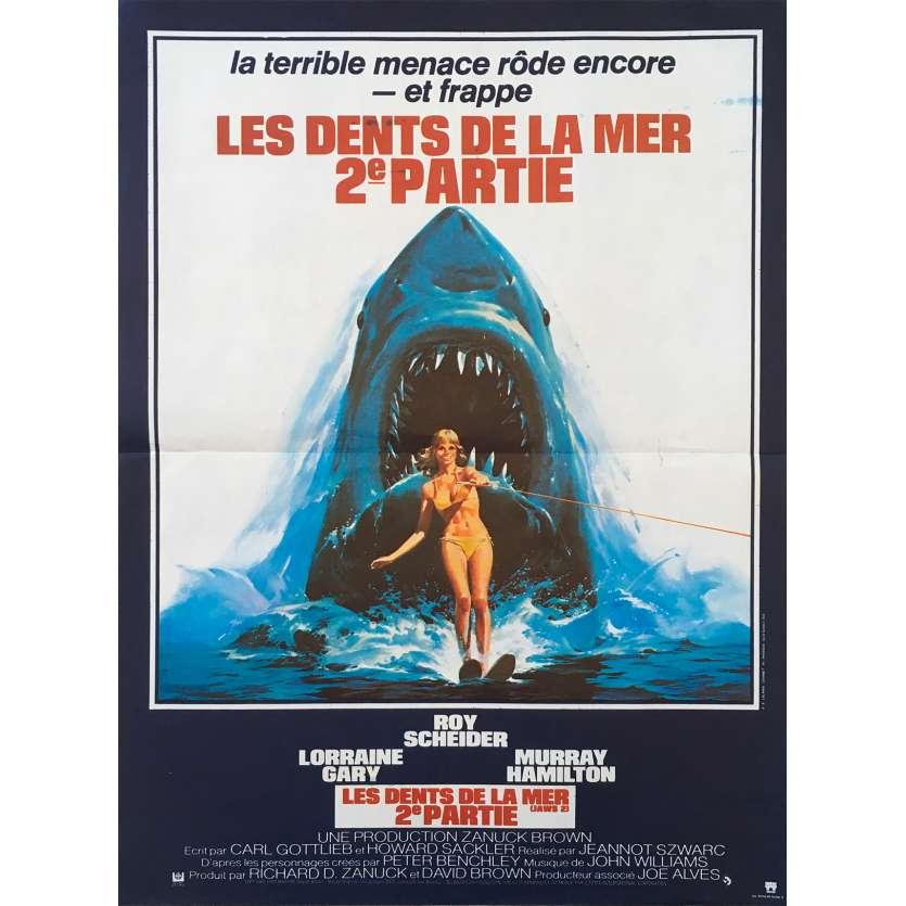 JAWS 2 French Movie Poster 15x21 - 1978 - Jeannot Szwarc, Roy Sheider