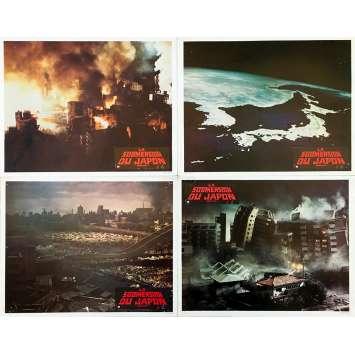 TIDAL WAVE Original Lobby Cards x4 - 9x12 in. - 1973 - Shirô Moritani, Lorne Greene