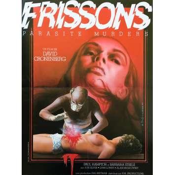 FRISSONS Affiche de film - 40x60 cm. - 1975 - Paul Hampton, David Cronenberg