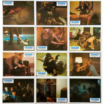 THEY CAME FROM WITHIN Original Lobby Cards x12 - 9x12 in. - 1975 - David Cronenberg, Paul Hampton
