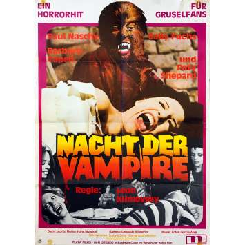 THE WEREWOLF VERSUS THE VAMPIRE WOMAN Original Movie Poster - 23x33 in. - 1971 - Leon Klimovsky, Paul Naschy
