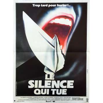 THE SILENT SCREAM Original Movie Poster - 15x21 in. - 1979 - Denny Harris, Cameron Mitchell