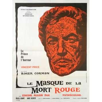 LE MASQUE DE LA MORT ROUGE Affiche de film - 60x80 cm. - 1964 - Vincent Price, Roger Corman