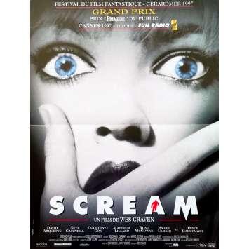 SCREAM Affiche de film - 40x60 cm. - 1996 - Neve Campbell, Wes Craven