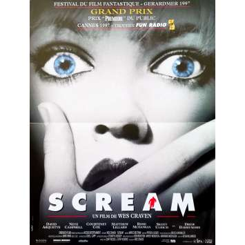 SCREAM Original Movie Poster - 15x21 in. - 1996 - Wes Craven, Neve Campbell