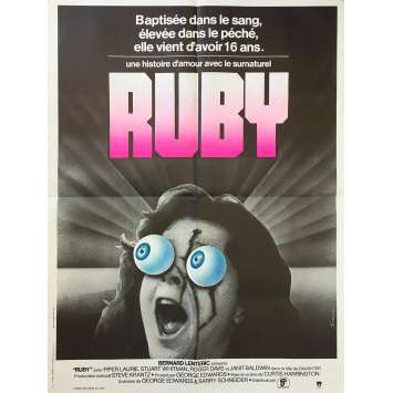 RUBY Affiche de film - 60x80 cm. - 1977 - Piper Laurie, Curtis Harrington