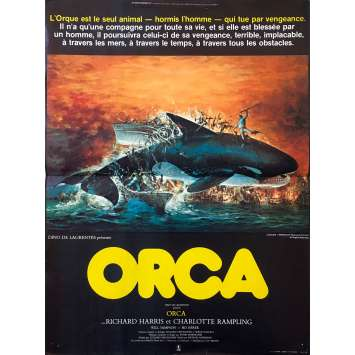 ORCA Original Movie Poster - 15x21 in. - 1977 - Michael Anderson, Richard Harris