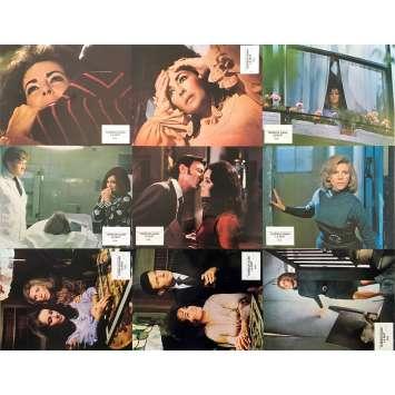 NIGHT WATCH Original Lobby Cards x9 - 9x12 in. - 1973 - Brian G. Hutton, Elizabeth Taylor