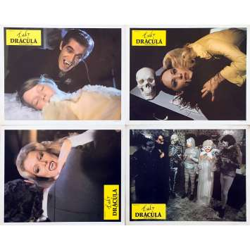 LADY DRACULA Original Lobby Cards x4 - 9x12 in. - 1977 - Franz Josef Gottlieb, Evelyne Kraft