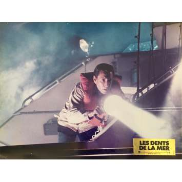 LES DENTS DE LA MER Photo de film N05 - 30x40 cm. - 1975 - Roy Sheider, Steven Spielberg
