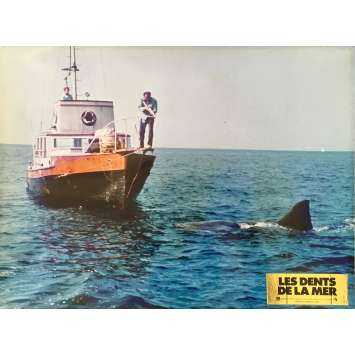 JAWS Original Lobby Card N07 - 12x15 in. - 1975 - Steven Spielberg, Roy Sheider