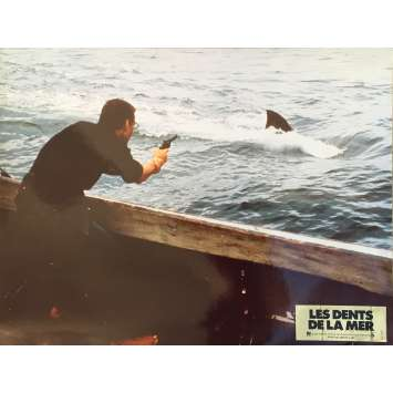 JAWS Original Lobby Card N12 - 12x15 in. - 1975 - Steven Spielberg, Roy Sheider
