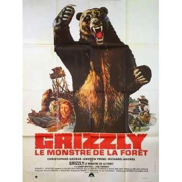 GRIZZLY LE MONSTRE DE LA FORET Affiche de film - 120x160 cm. - 1976 - Christopher George, William Girdler