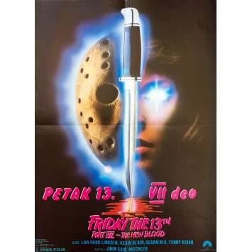 Friday THE 13TH PART VII : A NEW BLOOD Original Movie Poster - 20x27 in. - 1988 - John Carl Buechler, Terry Kiser